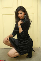 Mounika in a velvet short black dress for Tick Tack Movie Press Meet March 2017 062.JPG