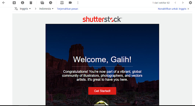 kalian sudah diterima full aproved oleh shutterstock dan siap menghasilkan ribuan dollar