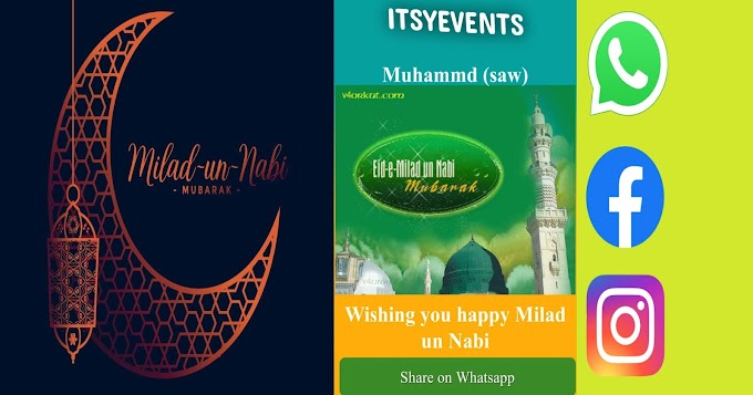 Wish Milad un Nabi through WhatsApp.