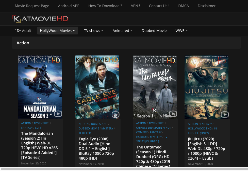 katmoviehd website