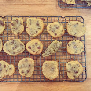 chocolate chip cookies cooling off