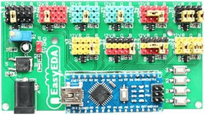 EasyEDA tarjeta de control barra de leds.