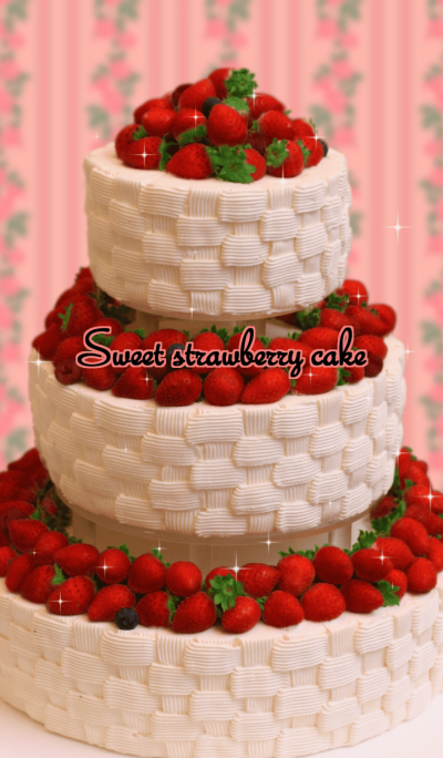 Sweet! strawberry cake