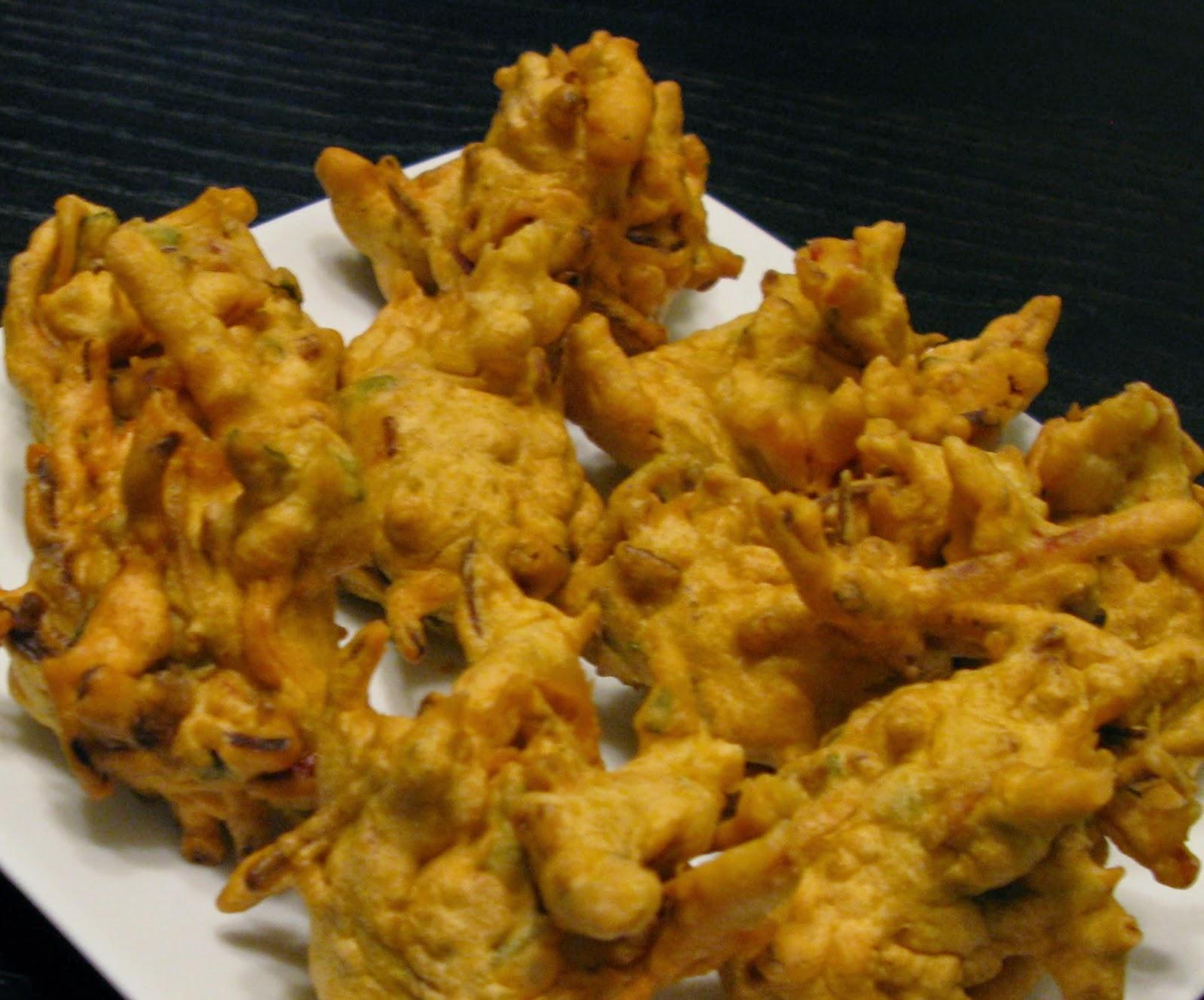 pakora (frittelle di verdure) in pastella