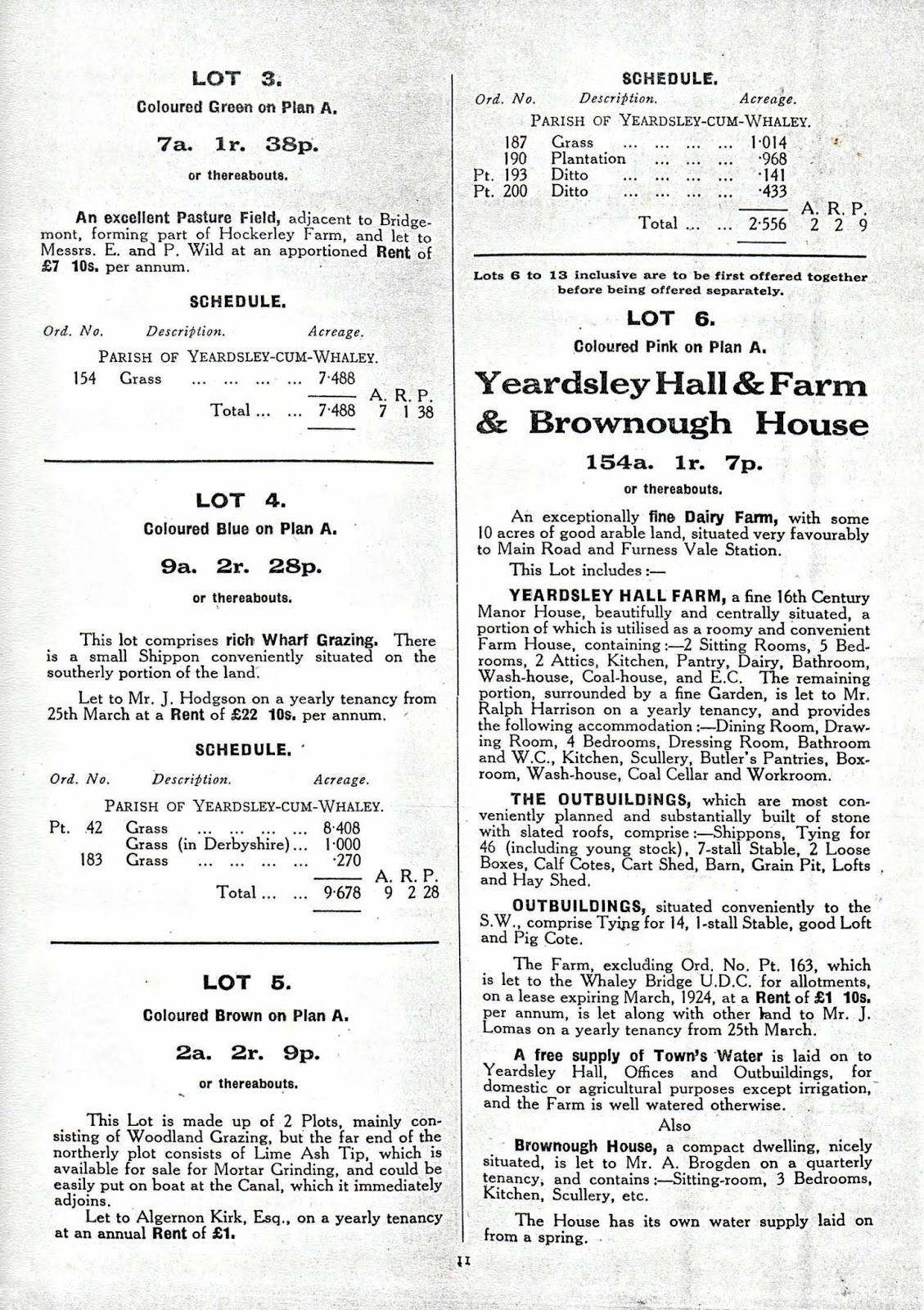 FURNESS VALE LOCAL HISTORY SOCIETY: Sale of the Jodrell Estate