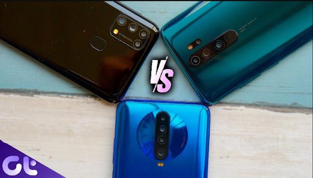 Samsung Galaxy M31 vs Redmi Note 8 Pro vs POCO X2