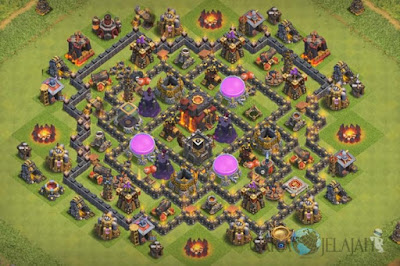 Base Hybrid TH 8 Clash Of Clans Terbaru Tipe 17