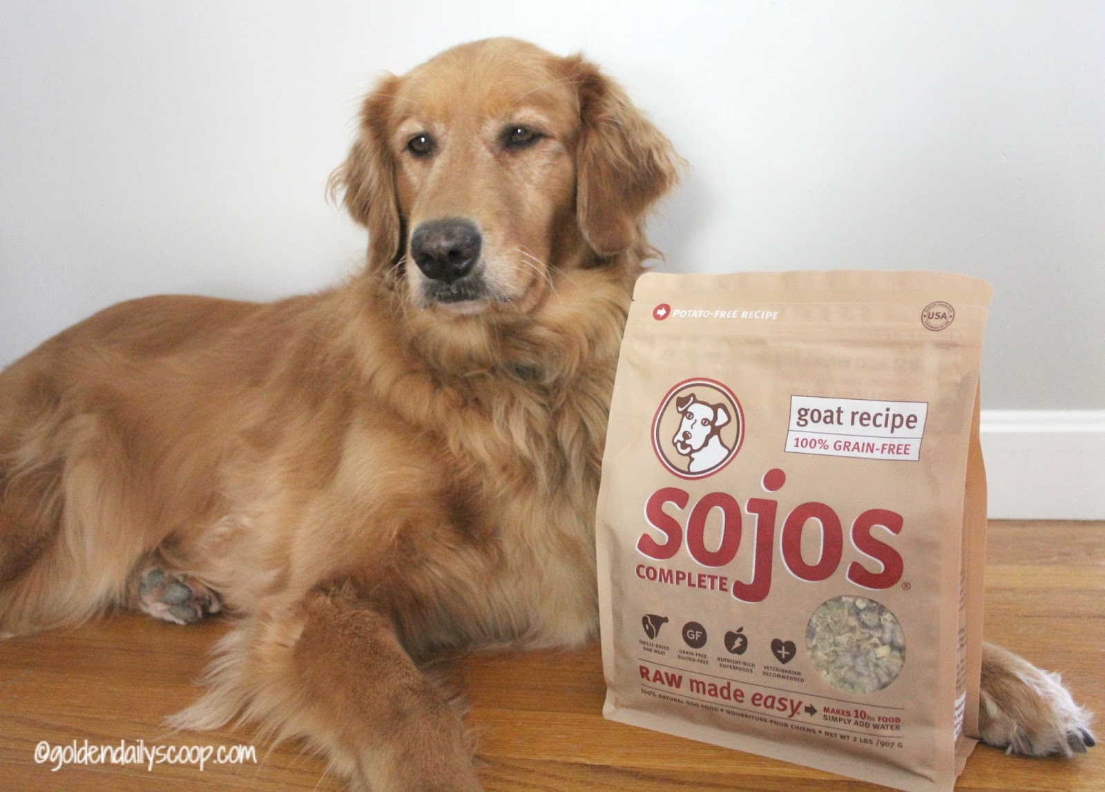 Sojos dog food treats your dog will simply love golden daily scoop sojos complete goat recipe raw dog food solutioingenieria Images