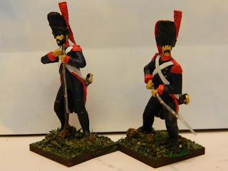 Granaderos del Regimiento Fijo de Buenos Aires en 1806, por Osvaldo Verón