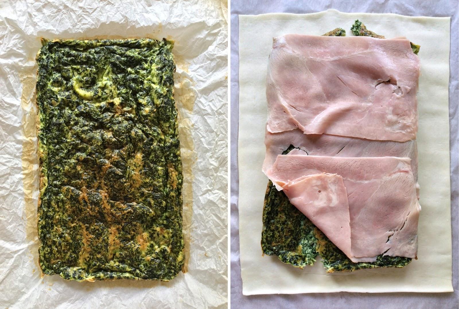 sfoglia spinaci e prosciutto
