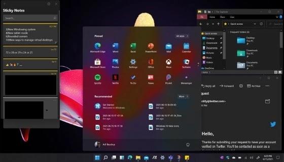 الميزات الجديدة لنظام التشغيل Microsoft Windows 11