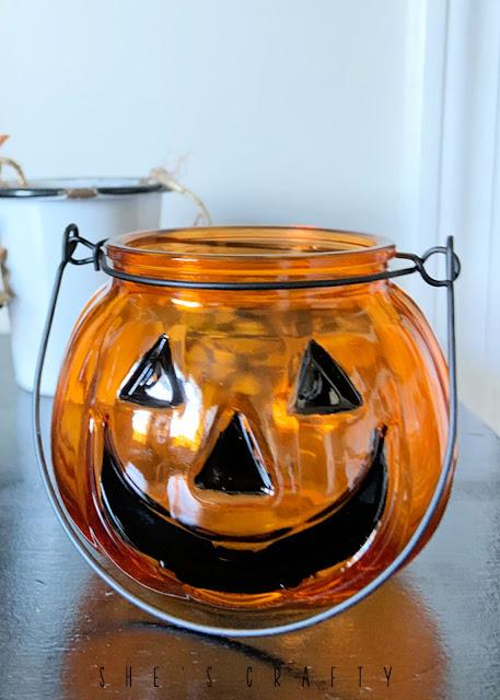Jack o Lantern Jar from dollar tree
