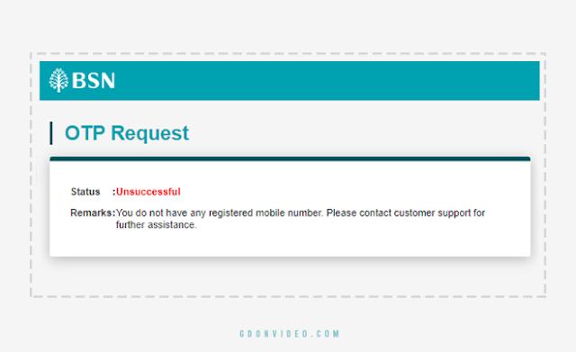 Cara Mengatasi BSN OTP Request Unsuccessful
