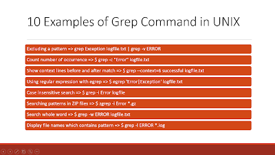 grep and hostname command example for IP address
