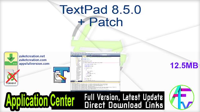 TextPad 8.5.0 + Patch