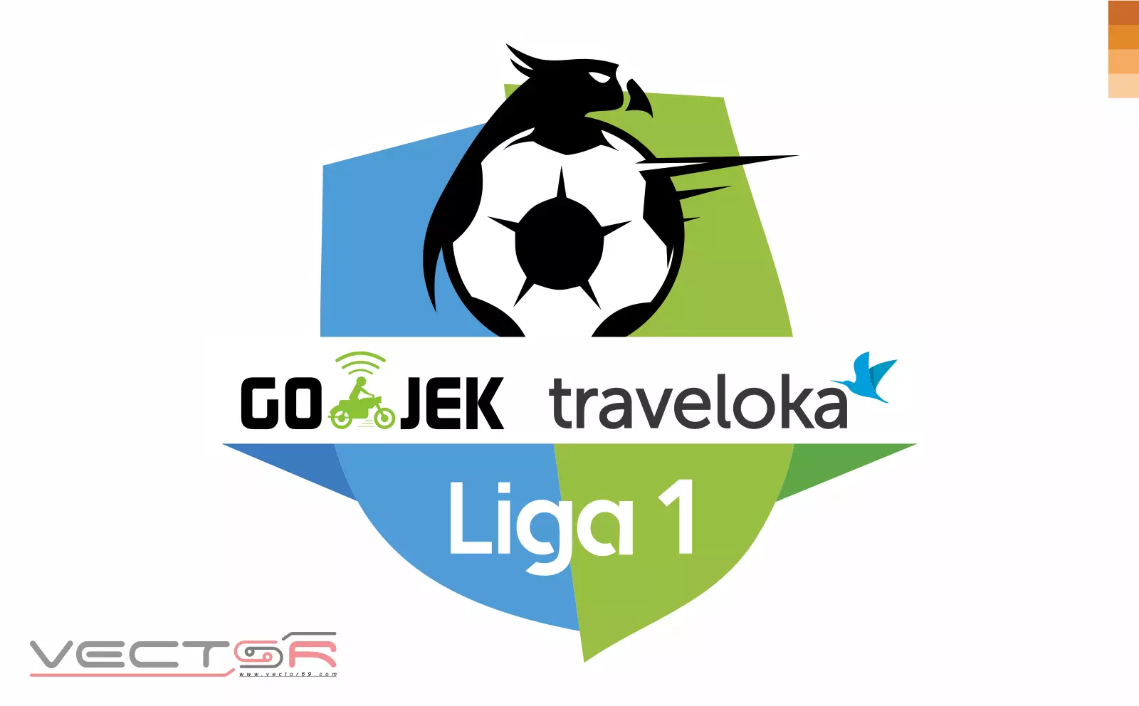 Gojek Traveloka Liga 1 Indonesia Logo - Download Vector File AI (Adobe Illustrator)