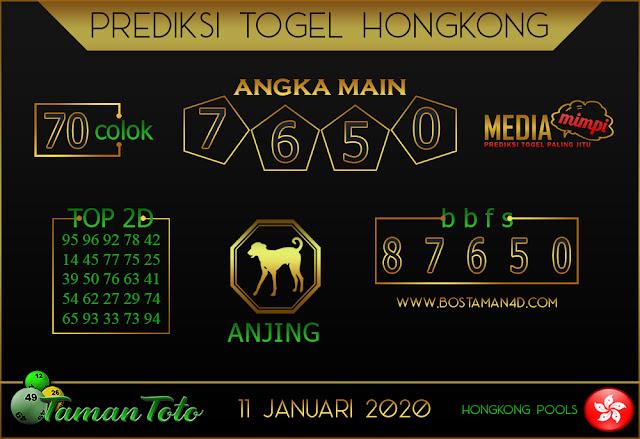 Prediksi Togel HONGKONG TAMAN TOTO 11 JANUARI 2020