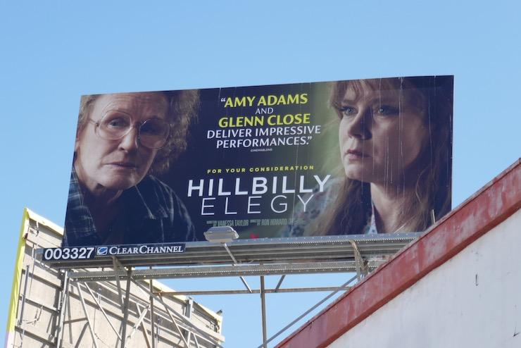 Hillbilly Elegy movie FYC billboard