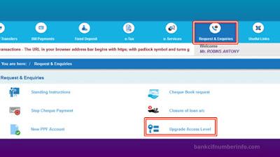 Select Upgrade/downgrade access level