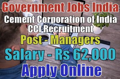 Cement Corporation of India Recruitment 2018