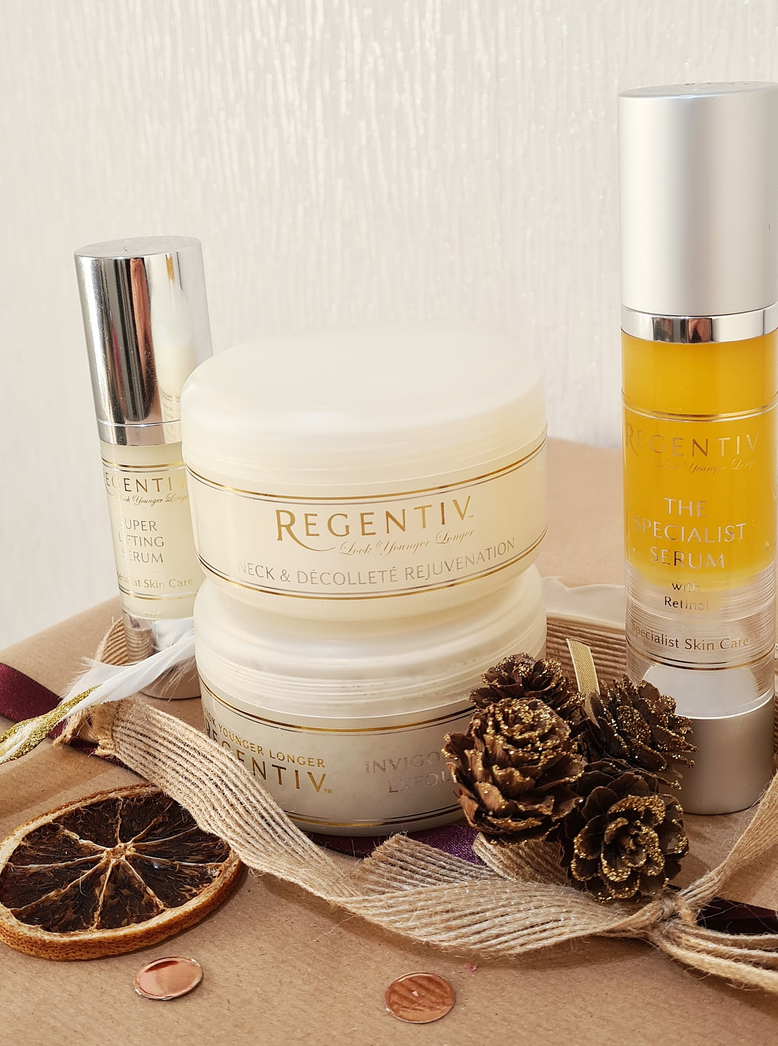 Some of the UK skincare brand Regentiv's products created to solve problems such as lines, wrinkles and lax skin texture