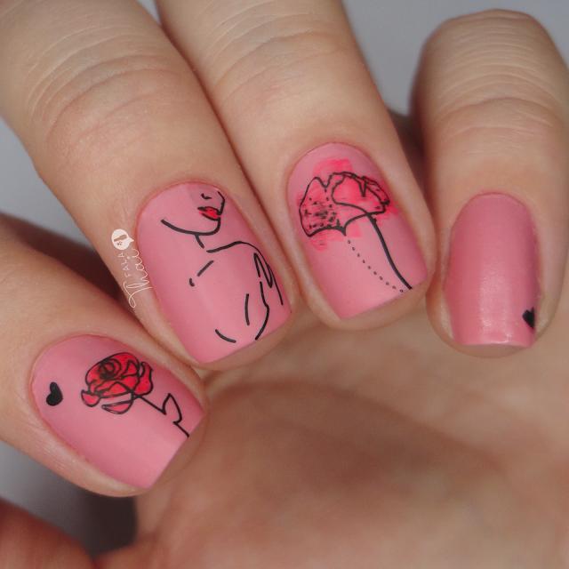 unha decorada outubro rosa