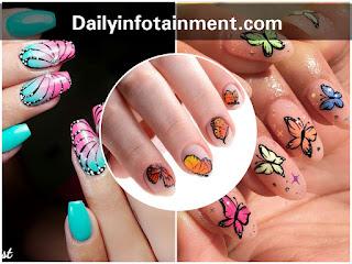 #Quarantine Manicure   Stunning Butterfly Nail Art Designs