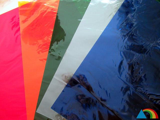 Papel de celofán de colores