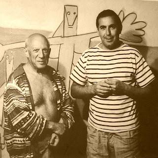 Pablo Picasso e Carlos Paez Vilaró, na Casa Pueblo