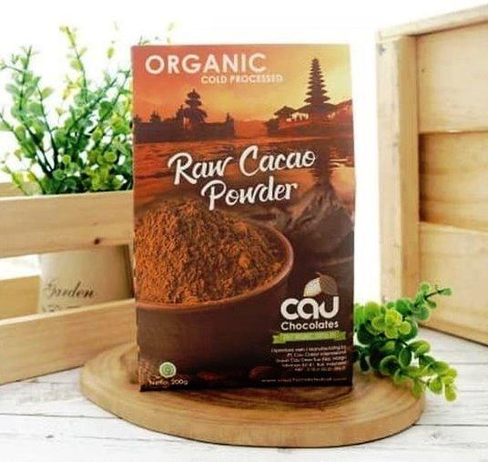 Organik Cau Raw Cacao Powder - Bubuk Kakao Organik untuk Kesehatan Anda