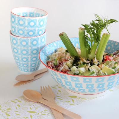 Illustration Salade de Riz - Fenouil & Pamplemousse