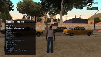 GTA San Andreas Top 10 Cheat Menu Pack