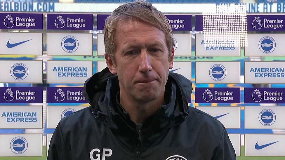 Brighton 1-1 Liverpool: Graham Potter interview.