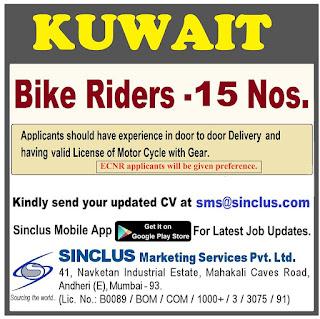 Bike Riders Requirement for Kuwait