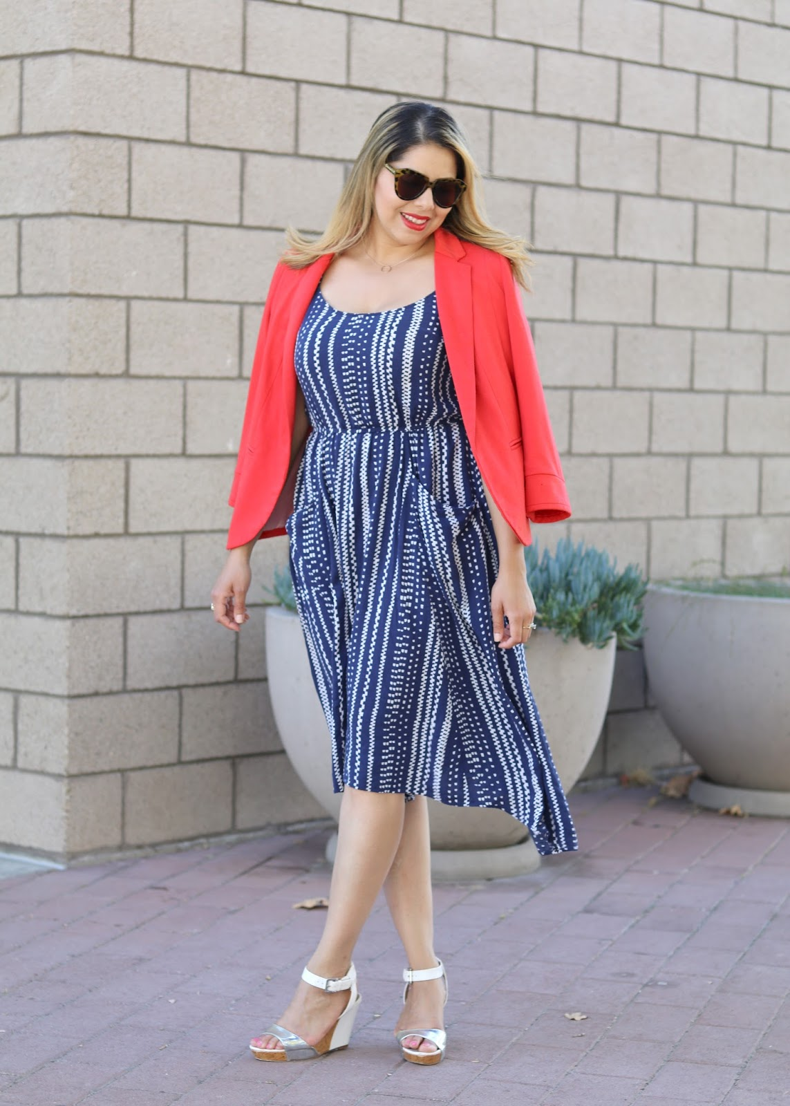 fourth of july look, casual red and blue outfit, fourth of july bbq outfit