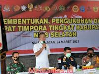 Bupati Nias Selatan Kukuhkan TIMPORA Tingkat Kabupaten