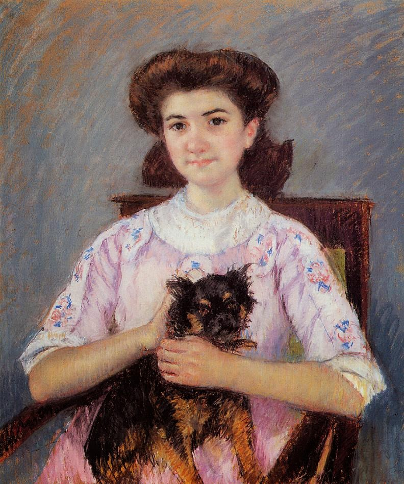 Retrato de Marie Louise Durand Ruel - Pinturas de Mary Cassatt | Mulheres na pintura