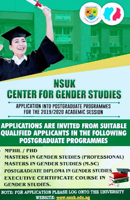 NSUK Postgraduate Studies Admission Form 2019/2020 [UPDATED]