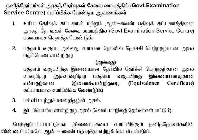 Tamilnadu 11th Application Form 2018 Private Exam Apply Online