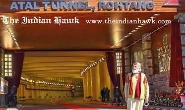 PM Narendra modi at Atal Tunnel, Rohtang