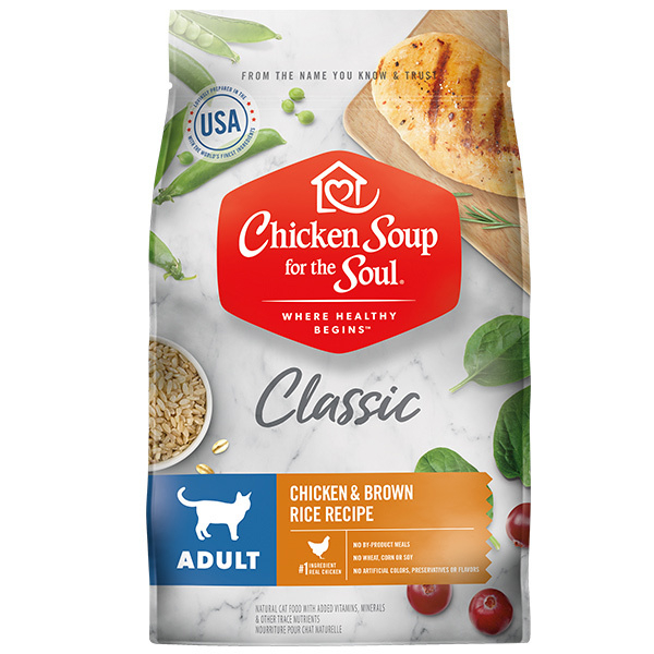 Adult Recipe with Chicken & Brown Rice Dry Cat Food