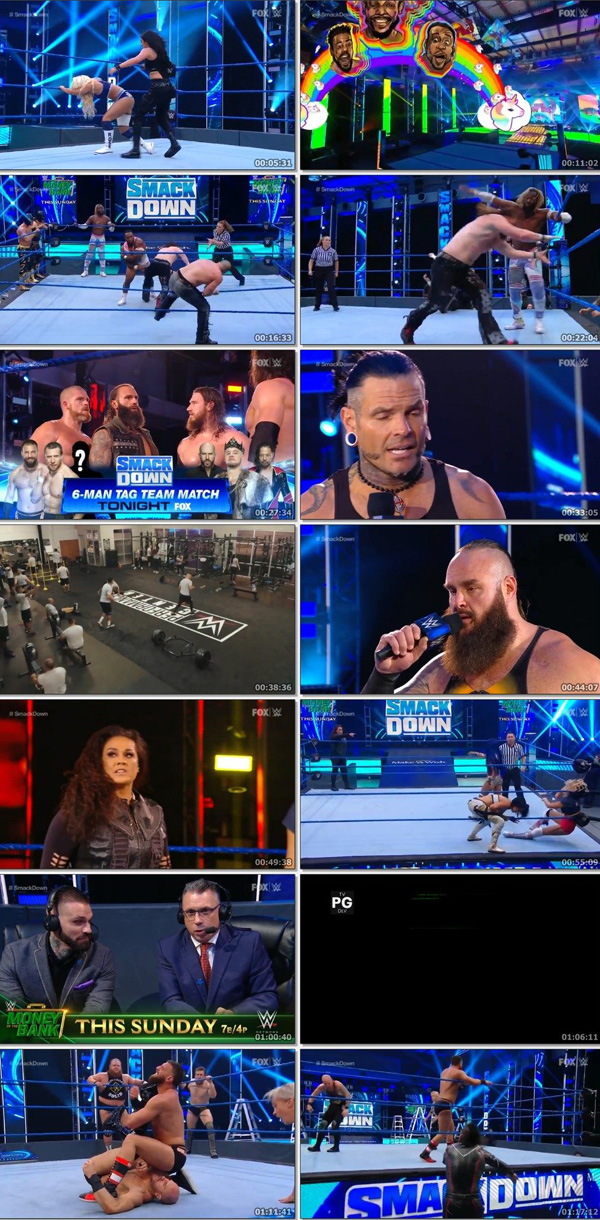 Download WWE Friday Night Smackdown 8th May 2020 ORG English HDTV 250MB movie