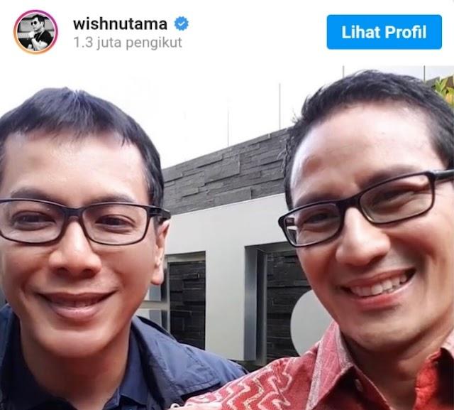 Dicopot dari Menparekraf, Wishnutama Selamati Sandi Uno sebagai Menteri Baru