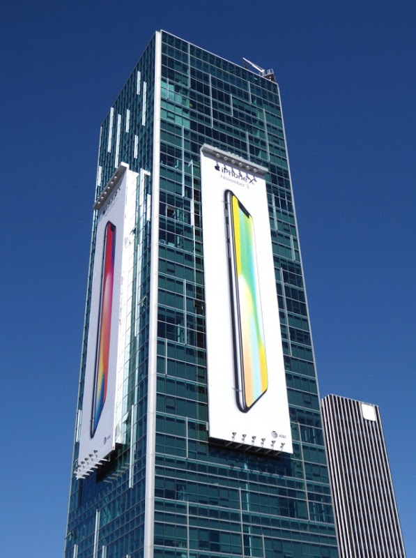 Giant Apple iPhone X billboards