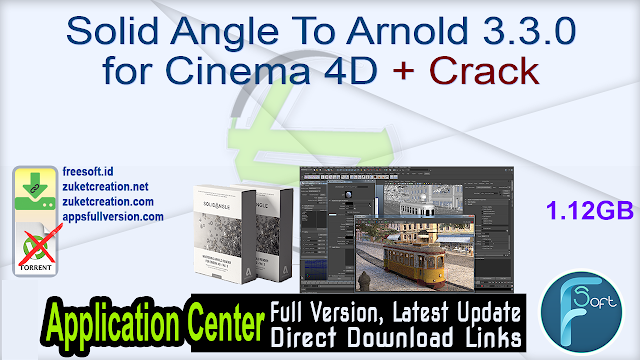 Solid Angle To Arnold 3.3.0 for Cinema 4D + Crack
