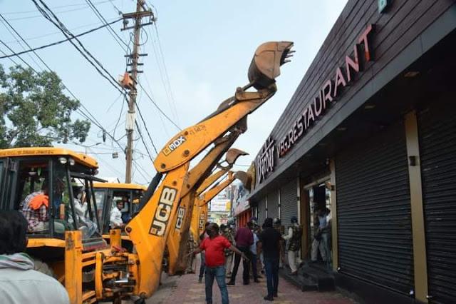 Jabalpur news, avaidh hotal todi, अवैध होटल तोड़ी