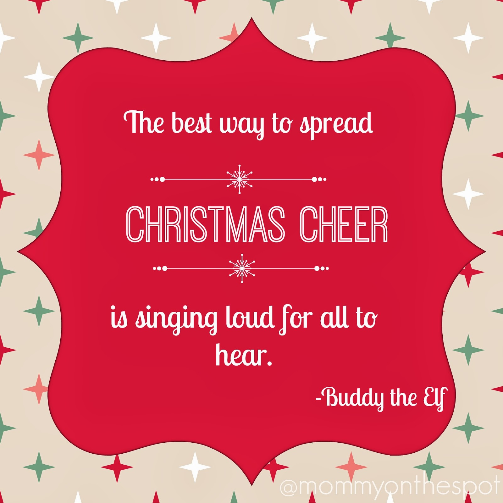 Mommy On The Spot: Motivational Mondays: Christmas Cheer