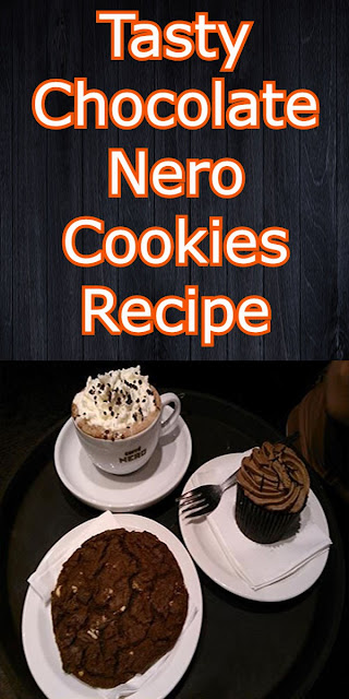 Tasty chocolate nero cookies