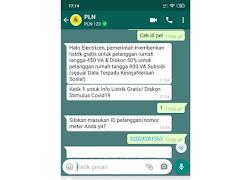 Cara Klaim Token Listrik Gratis PLN via WhatsApp