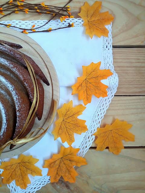 Bundt cake integral de crema de castañas (marrón glacè) Desayuno merienda postre bizcocho receta sencilla, fácil, rápida de temporada con horno Cuca